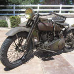 1919 Harley Davidson Model J with sidecar